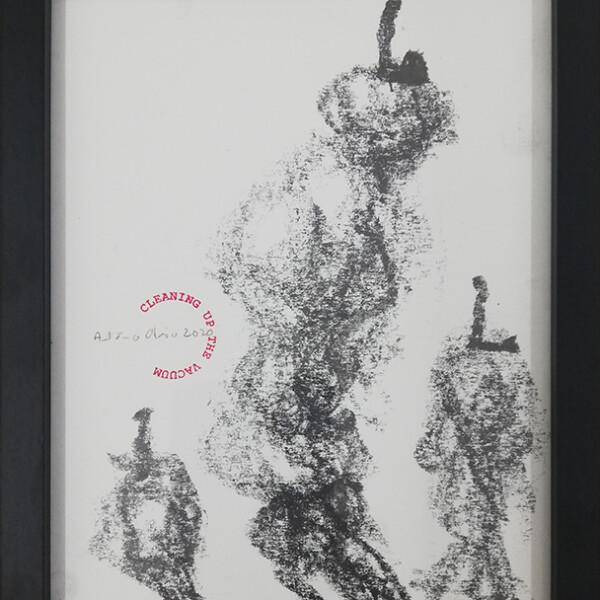 António Olaio - Cleaning up the vacuum 114, 2020, 26x20cm, grafite s papel