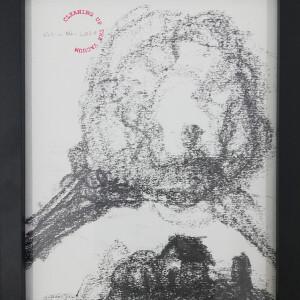 António Olaio - Cleaning up the vacuum 115, 2020, 26x20cm, grafite s papel