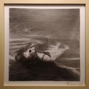 António Trindade - St 2, grafite s papel, 25x25cm, 2020