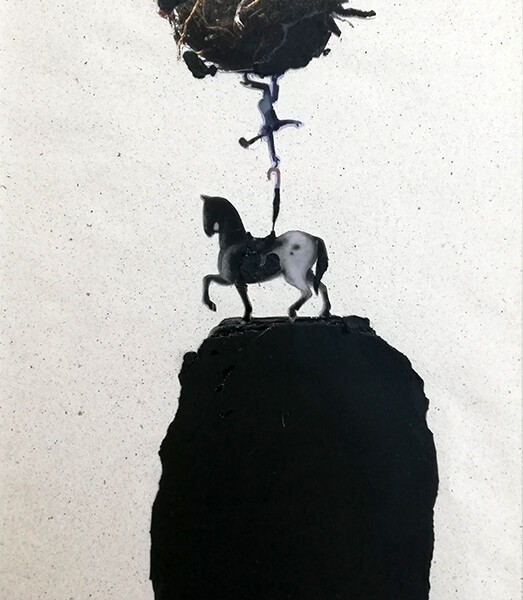 Antonio melo- st 6, 2020, mista s papel, 28x20cm, moldura 47x38cm