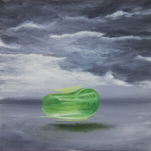 Cristina Garcia - fragmentos 1, 2020, oleo s tela, 20x20cm