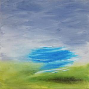 Cristina Garcia - fragmentos 2, 2020, oleo s tela, 20x20cm