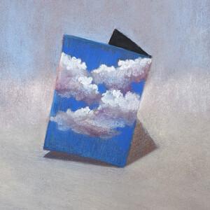 Diogo Costa - O ceu contido 5, 2020, pastel seco s papel, 29,7x21cm