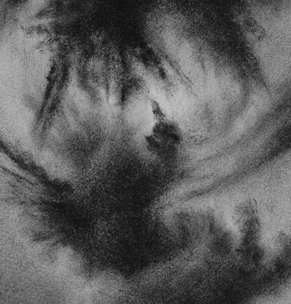 Filipe Romão - Nuvens_17cmx13cm_2020, carvão s papel
