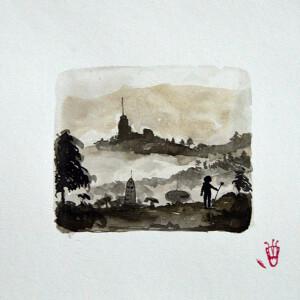 Gabriel Garcia - serie poetica das sombras III_19x24cm_2020, tinta da china e vieux chen s papel