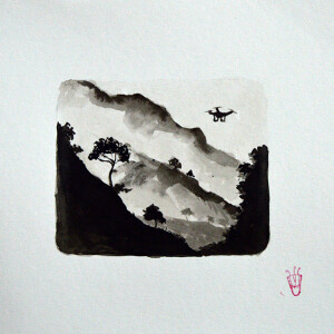 Gabriel Garcia - serie poetica das sombras V_19x24cm_2020, tinta da china e vieux chen s papel
