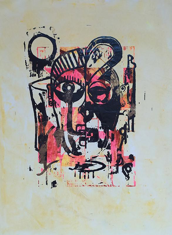 Hamilton Francisco-Babu, st serie Hauteculture, serigrafia s tela, 43x30cm