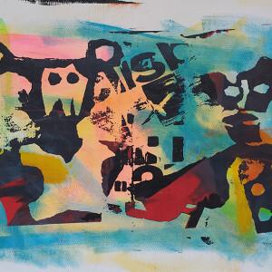 Hamilton Francisco-Babu, st1 serie Hauteculture, serigrafia s tela, 43x30cm