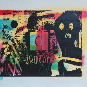 Hamilton Francisco-Babu, st2 serie Hauteculture, serigrafia s tela, 43x30cm