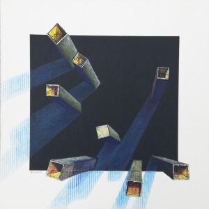 Isabel Braga - P2020-23, 2020, mista s cartolina e cartão, 14x14cm