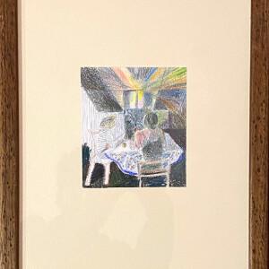 João Melo - Stillness, 2020, lapis de cor s papel, 13,2x11,2cm