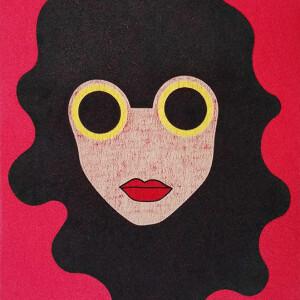 João Noutel - Stella 4, 2020, tecido sobre tela, 30x20cm