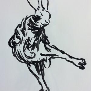 Jorge Leal - st 2, tinta da china s papel, 42x29,7cm