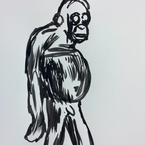 Jorge Leal - st 3, tinta da china s papel, 42x29,7cm