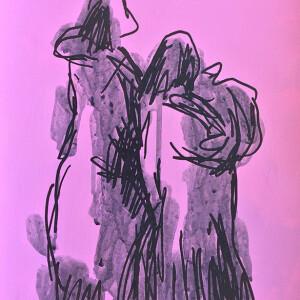 Jorge Leal - st 4, tinta da china e acrilico s papel, 42x29,7cm