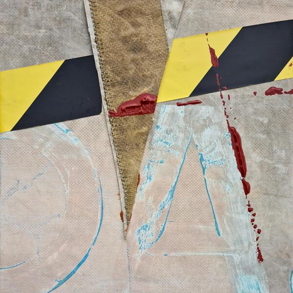 José Fonte- VOYAGE 3-3, 27x25X5cm, Acrílico lona tela 2020