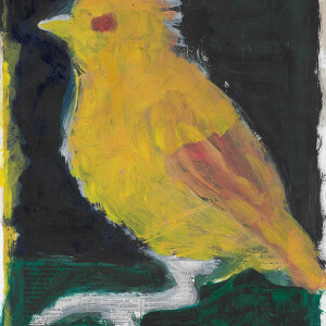 Manuel Gantes - st passaro, 2003, oleo s papel, 28x21cm