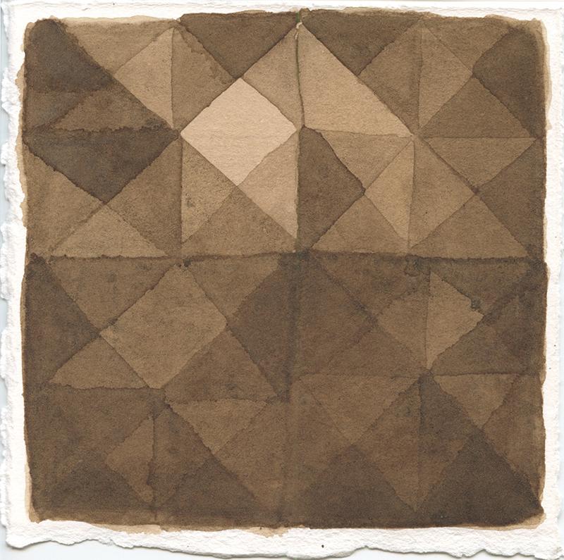 Marta Leite - Noz, 2020, tinta de noz s papel, 17,5x17cm