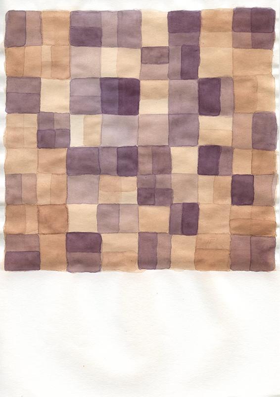 Marta Leite - Speichers, 2020, tinat de vegetais s papel, 21x30cm