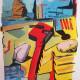Pedro Pousada - estudo para paisagem provisória 3, acrilico s papel, 21x29,7cm, 2020