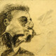 Ricardo Angélico - 2001 - sem título (BACON), grafite s cartão preparado (15x15,5cm)