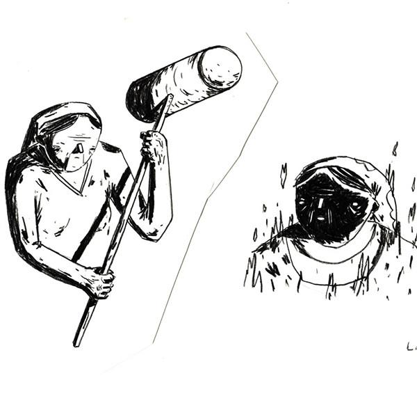 Ricardo Ladeira - Bisalhães, lápis de cor s papel, 21x29,7cm