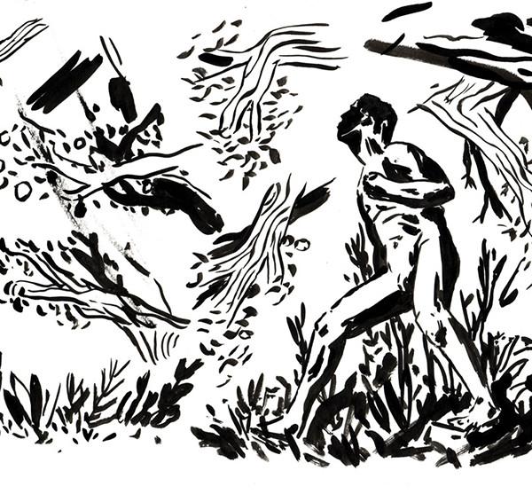 Ricardo Ladeira - Floresta, tinta da china s papel, 21x29,7cm