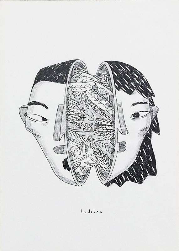 Ricardo Ladeira - Iguais, grafite s papel, 29,7x21cm