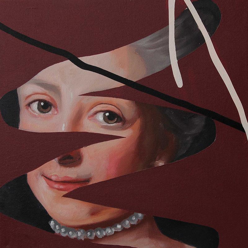 Rita Melo - copy past 73, 2020, oleo s tela, 30x30cm