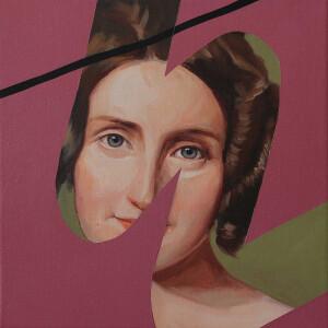 Rita Melo - copy past 75, 2020, oleo s tela, 30x30cm