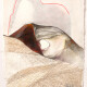 Sonia Aniceto - big talk, Tecnica mista sobre drop paper, 2019, 27 x 34 cm