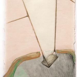 Sonia Aniceto - gap II, 2019 técnica mista sobre drop paper, 21 x 30 cm
