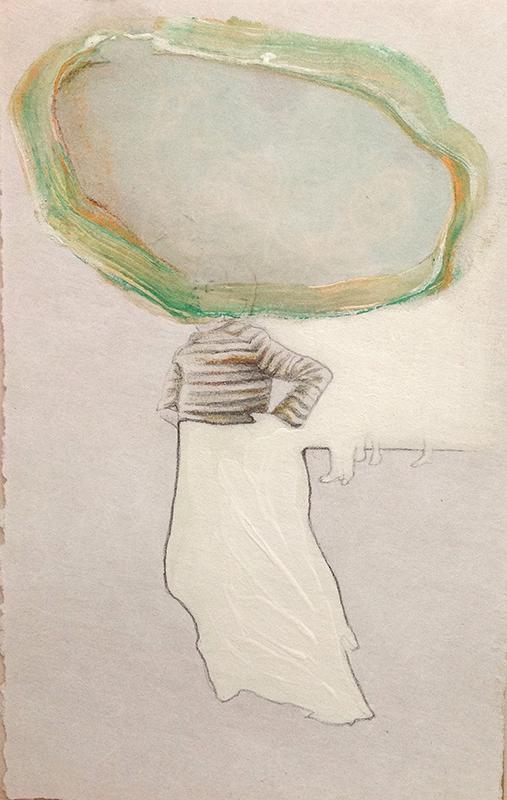 Sonia Aniceto - gap l, 2019 técnica mista sobre drop paper, 21 x 30 cm