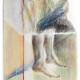 Sonia Aniceto - immersion, 2019, técnica mista sobre drop paper, 37 x 22 cm