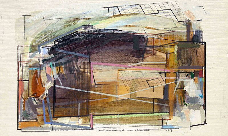 Susana Chasse - Analog-digital 07, mista s papel telado, 2019, 17,8x25,4cm