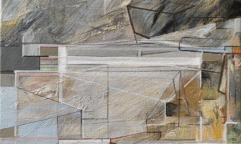 Susana Chasse - Entanglement, 2020, 20x25cm, mista s tela