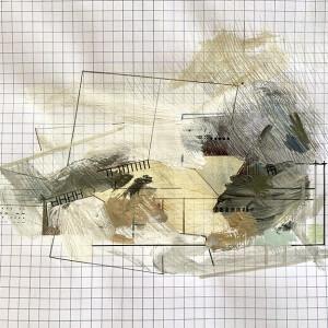 Susana Chasse - Mathematics 10 - into - 2020, Técnica Mista s papel almaço quadriculado, 22 x 33 cm