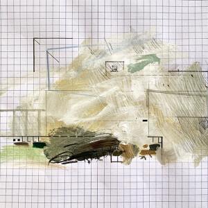 Susana Chasse - Mathematics 11 - into - 2020, Técnica Mista s papel almaço quadriculado, 22 x 33 cm