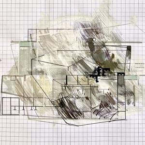 Susana Chasse - Mathematics 12 - into - 2020, Técnica Mista s papel almaço quadriculado, 22 x 33 cm