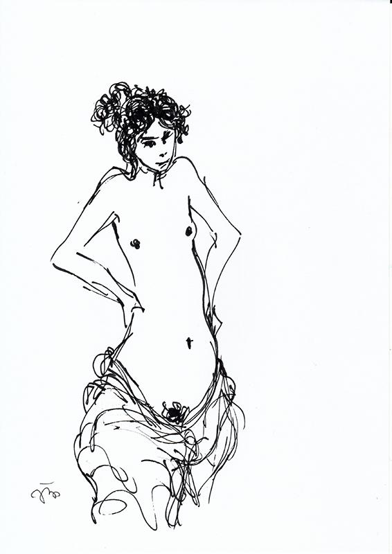 João Cutileiro - st 3, sem data, 29,7x21cm, caneta sobre papel