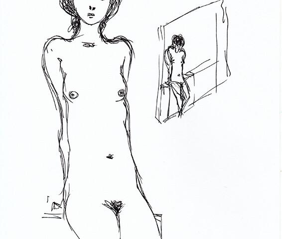 João Cutileiro - st 4, sem data, 29,7x21cm, caneta sobre papel