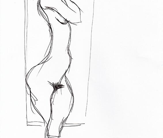 João Cutileiro - st 6, sem data, 29,7x21cm, caneta sobre papel