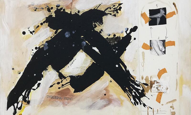 Alexandre Baptista - A perspectiva, 1997, mista s madeira, 50x70cm BD