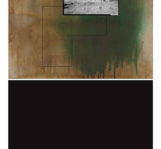 Alexandre Baptista - CAGED 14, 2020-21, inkjet s papel, acrilico s papel e impr s papel luster, 94,5x59cm