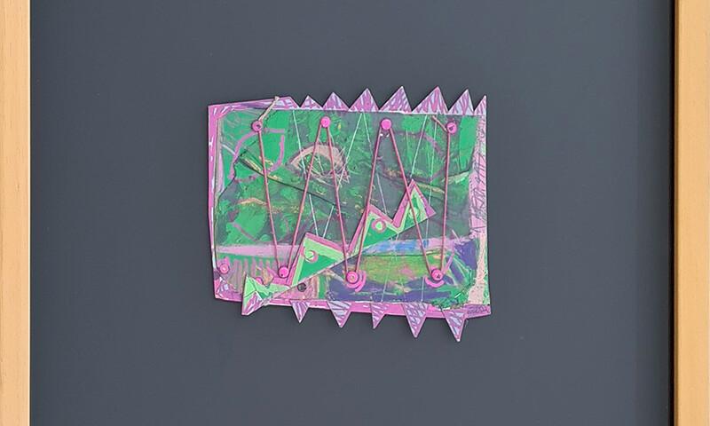 Ana Vidigal - st, 2001, mista s cartão, 45,7x43,8cm - 16,5x18cm BD