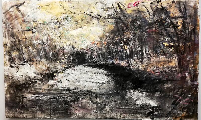 João Jacinto - G7-121, 2019, 113,5x184, mista sobre papel