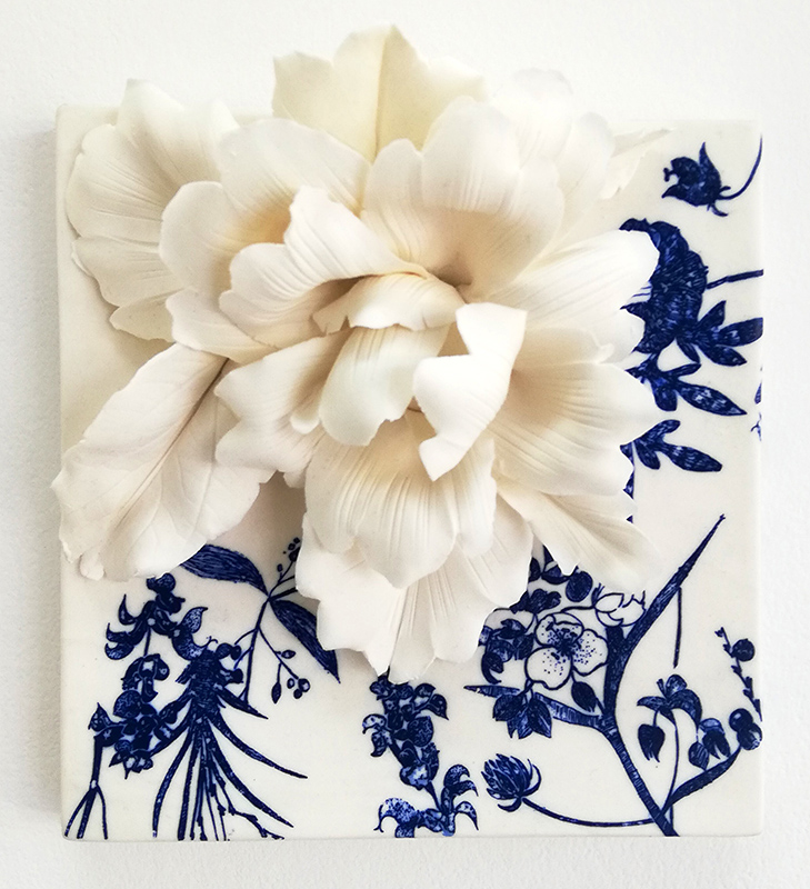 Noemi Iglesias Barrios - Hua Dan 2 - Porcelana artika e cobalto, 15x15x6cm BD