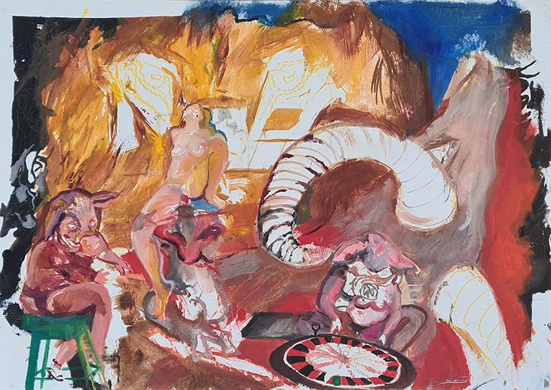 Pedro Versteeg_Sem título, 89,5x62,5 cm, acrílico sobre papel BD