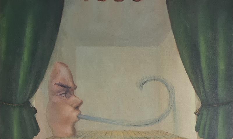 António Melo, Aparição, 2015, 64x64 cm, óleo sobre tela BD