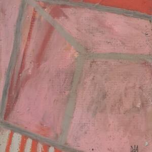 Daniel David, sem título #4, 15x12,5 cm (25,5x25,5cm), sem data, óleo e pastel de óleo sobre cartolina passepartout BD